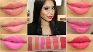 mac pink lipsticks lip swatches on indian stani mac nc42 tan brown skin arzan s you