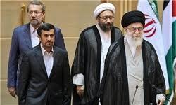 Afbeeldingsresultaat voor احمدی نژاد با خامنه ای و سپاه
