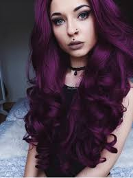 Purple Hair Style dark purple wavy waist length lace front synthetic wig sny089 7703 by wearticles.com
