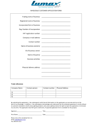4 Wholesale Application Form Templates Pdf Free Premium Templates