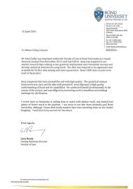 Letter Asking For A Reference Reference Letter Law Bond University