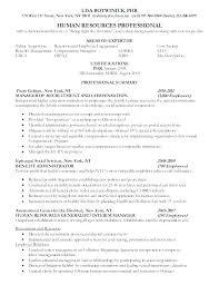 Human Resource Resume Samples Entry Level Hr Generalist Sample ...