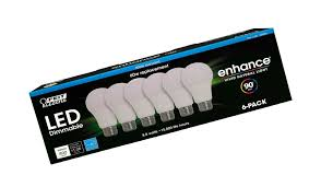 Enhance Vivid Natural Light 75 Watt Feit Led Dimmable Enhance Vivid Natural Light 60 Watt 6 Pack