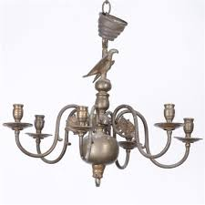 vintage chandelier colonial wax candle