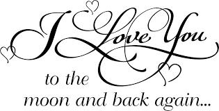 love you to the moon nursery wall e