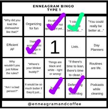 So goes the logic of the enneagram one. Enneagram Bingo Myers Briggs Mbti Amino