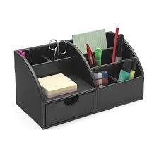 Desk Organizer Osco Faux Leather Desk Organizer Brown Amazoncouk Office