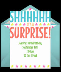Birthday Party Evites Free Surprise Birthday Party Online Invitations Punchbowl