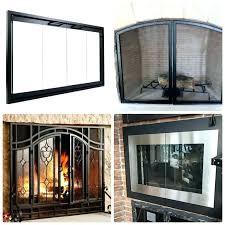 wood burning fireplace door installation kit doors home depot replacement how to replace heatilator glass