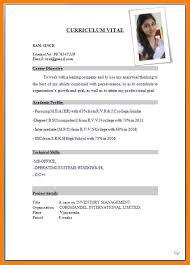9 Sample Cv Format For Job Gin Education