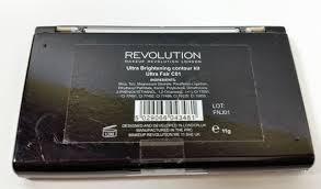makeup revolution ultra sculpt contour kit review and swatches