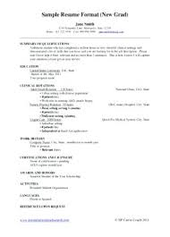 New Grad Nursing Resume Student Resume New Resume Samples New Grad