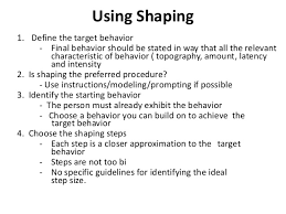 behavior modification shaping  10