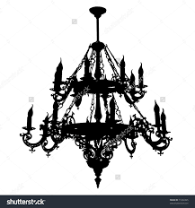 chandelier black stock vector ilration of lamp 6555181
