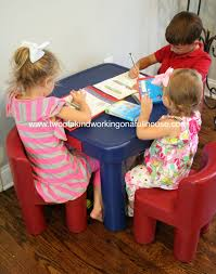 little tikes large table chairs review giveaway two of a kind little and chair set