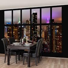 Fototapete New York Fenster New York Mondlicht Vliestapete Breit