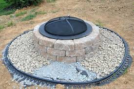circular shape brick fire pit good rounded building a paver patio and
