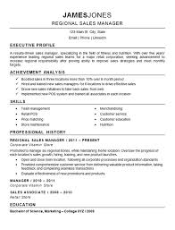 Regional Sales Manager Resume Example