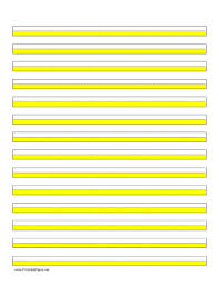 printable highlighter paper yellow lines