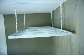 ceiling mounted storage for garage suspended garage storage utility racks for garage hanging garage shelves plans