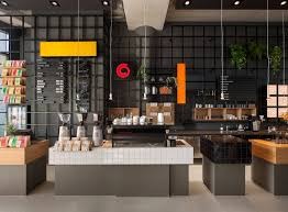 Kitchen Coffee Bar Cool Coffee Bar For Kitchen With Black Wall Design And Cake Place