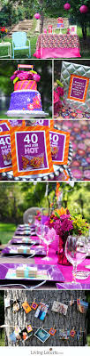 40th Birthday Decorations For Her 40th Birthday Party Ideas Backyard Table Decorating Ideas