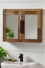 bronx mirrored wall cabinet from