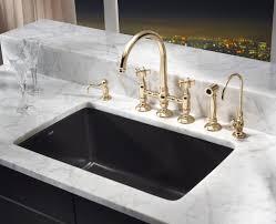 Black Undermount Kitchen Sinks Rohl Allia Fireclay Single Bowl Undermount Kitchen Sink In Matte