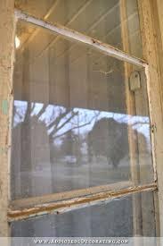 old wood windows caulked instead of glazed