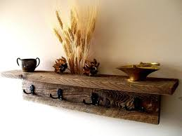 Wall Shelf Coat Rack Barn wood Shelf and Coat Rack Craftbnb 69