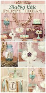 A lovely vintage shabby chic girl birthday party with a dessert table,  candy jars and