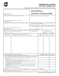 ups commercial invoice template ups commercial invoice invoice template ideas