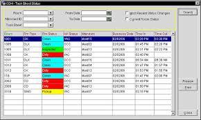 Attendant Sheet Task Sheet Status