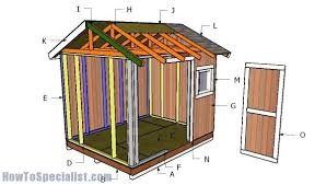 8x10 shed roof plans howtospecialist