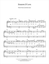 rent seasons of love sheet music seasons of love from rent sheet music by jonathan larson beginner