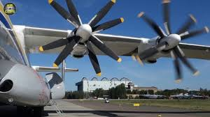 World's LARGEST TURBOPROP An-22 starts huge contra-rotating engines ...