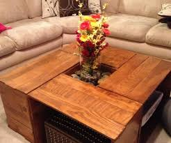 Coffee Table, Amusing Brown Square Indutrial Wood Crate Coffee Table DIY  With Storage Idea To
