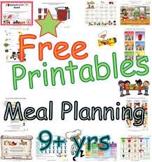Summary Meal Plans For Children Nine Years And Older Food