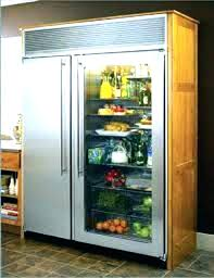 glass door refrigerator home bar traditional with dark wood cabinets front for frosted kitchen industrial w