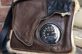 the sdometer handbag recycled from a leather jacket