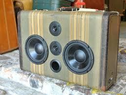 tweed tension sonic suitcase bluetooth speaker