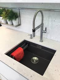 Blanco Etagon Silgranit sink with Blanco Culina Mini S tap & soap