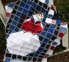 96 best Large Quilts images on Pinterest | Lap quilts, Christmas ... & Frosty the Snowman Rag Quilt Red White and by SunflowerRagWorks Adamdwight.com