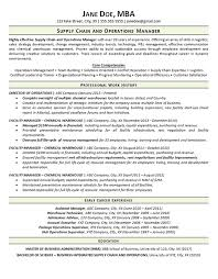 Resume Example Resume Format For Supply Chain Management Resume