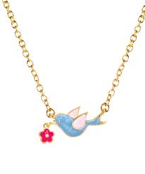 love this goldtone blue bird pendant necklace