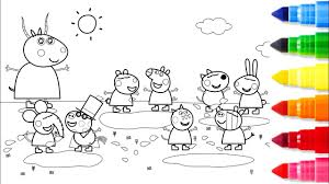 Big Family Peppa Pig Coloring Pages Fun Learn Colors For Kids
