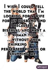 Telling husband im bisexual