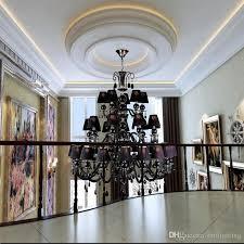 home lighting decorative black chandelier large crystal chandelier for hotel hall banquet hall crative lighting vintage crystal chandeliers hanging