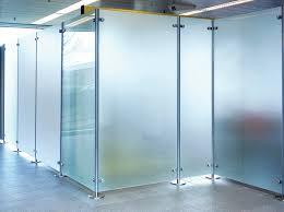 floor mounted office divider glass floor fixed