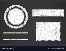 Stamps Template Set Of White Grunge Stamps Template Different